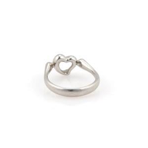 Tiffany & Co. Peretti Platinum Diamond Ring Size 6