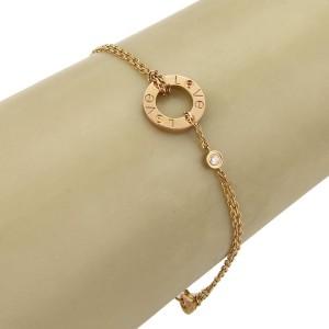 Cartier Love 18K Rose Gold Diamond, Sapphire Bracelet