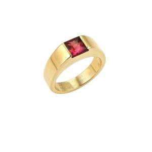 Cartier 18K Yellow Gold Tourmaline Ring Size 5.25