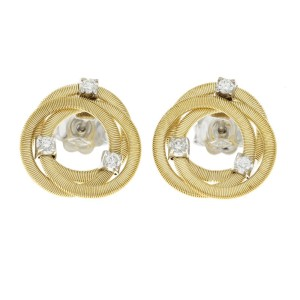 Marco Bicego 18K Yellow Gold Diamond Earrings