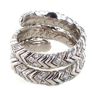 Bulgari Spiral Diamond 18k White Gold Ring