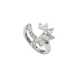14K White Gold 0.75 Ct FVS1 Diamond Cocktail Ring 5.4 Grams Size 6.75