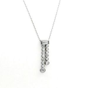 """Au Tiffany & Co. 950 Platinum Diamond Jazz Drop Necklace Size 17"""""""