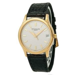 47b6bc3af Patek Philippe Calatrava 3998 Unisex Automatic Watch 18K YG Cream Dial 34MM    Patek Philippe   Buy at TrueFacet