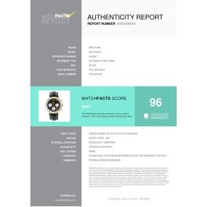 Breitling Navitimer K23322 Mens Automatic Watch Chronograph 18K YG 42mm