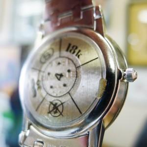 Mens Eterna 18k White Gold Diamond Dial Bezel Watch 108 Grams