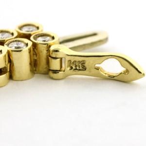 6.55 Carat 14k Yellow Gold Two Row Diamond Tennis Bracelet
