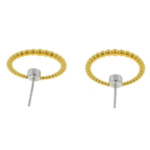Kwiat Adorn Two Tone Diamond Stud Hoop Earrings