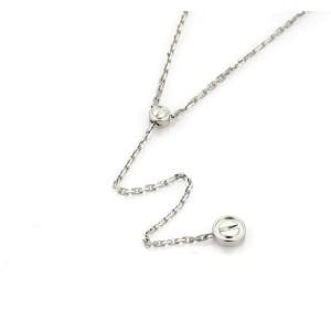 Cartier Love 18k White Gold Screw Motif Long Pendant Necklace