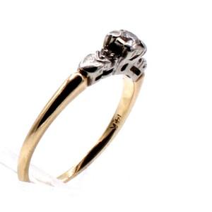 14k Yellow Gold Diamond Ladies Ring 2.1 Grams Size 7.5
