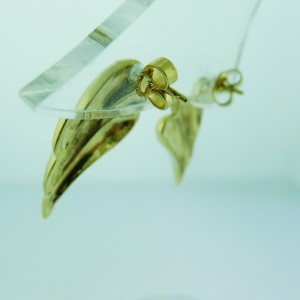 Fine Estate 14k Yellow gold Angel Wings Dangle Earrings 9.2 Grams