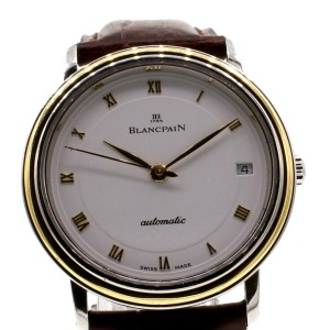 Blancpain Villeret 18K Gold & Steel ultra Thin Date  Automatic Mens Watch