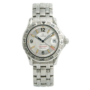 Omega Seamaster 196.1526 Mens Automatic Quartz Watch Silver Dial Stainless 36mm