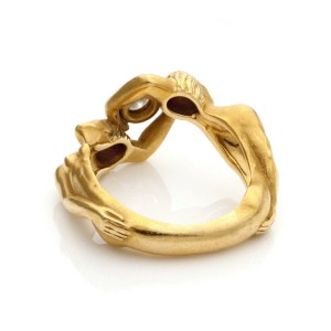 Carrera y Carrera Diamond 18k Yellow Gold Man & Woman Band Ring Size 6.5