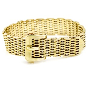 Tiffany & Co. Vintage 14k Yellow Gold Tang Buckle Bracelet