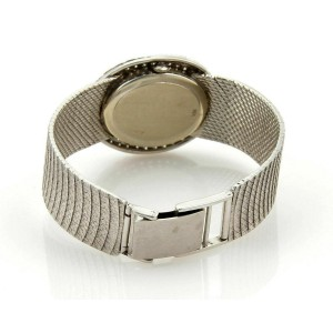 Estate 2.00ct Pave Diamond Face & Dial Ladies 14k White Gold Watch