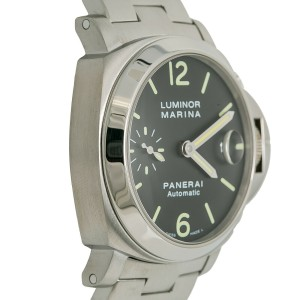 Panerai Luminor Marina PAM00298 Pam 298 Mens Automatic Watch Black Dial SS 40mm