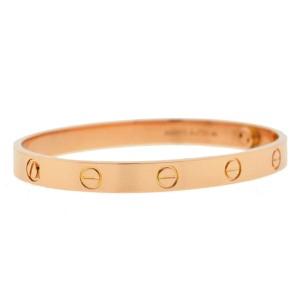 Cartier 18k Rose Gold LOVE Bracelet Size 17 NEW STYLE