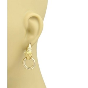 Citra 18k Yellow Gold Panther Door Knocker Dangle Earrings