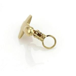 Pomellato 18k Yellow Gold Cross Dangle Earrings