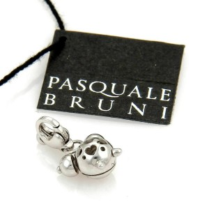 Pasquale Bruni Diamond Clock 18k White Gold Charm