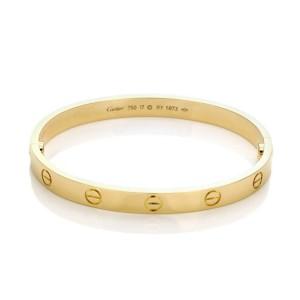 Cartier Love Bangle 18k Yellow Gold Screw Motif Size 17