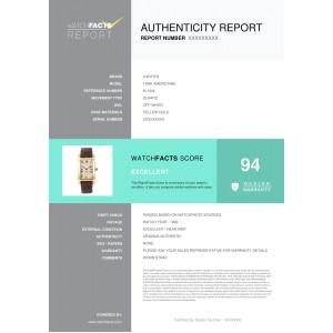 Cartier Tank Americaine 811904 Unisex Quartz Watch 18K YG Cream Dial 23mm