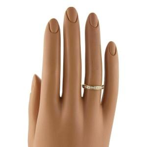 Cartier Ballerine Diamond 18k Yellow Gold Wedding Band Ring Size 49 US 5 w/Cert.