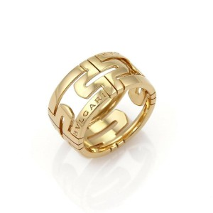 Bvlgari Parentesi 18k Yellow Gold 11.5mm Dome Band Ring Size 52 US 5.5