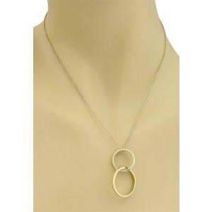 Tiffany & Co. Picasso Double Ring 18k Yellow Gold Pendant & Perreti Chain
