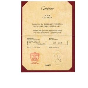 Cartier Trinity Pink Sapphire 18k Tricolor Gold Pendant w/Cert