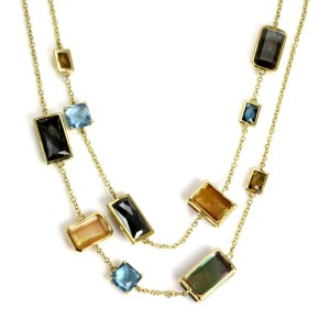 Ippolita Rock Candy Gelato Beverly Gems Station 18k Yellow Gold Long Necklace