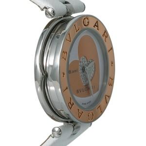 Bvlgari B.Zero1 BZP30S Ladies Quartz 18k RG Steel Watch w/Box&Papers 30mm