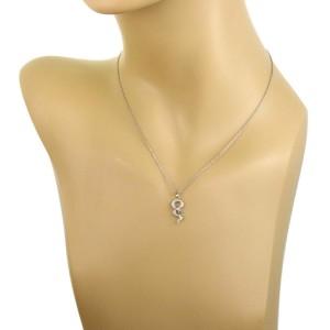 Tiffany & Co. Diamond Tsavorite Platinum Snake Pendant