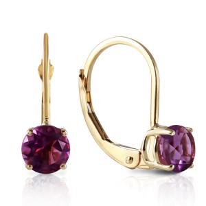 1.2 CTW 14K Solid Gold Iris Amethyst Earrings