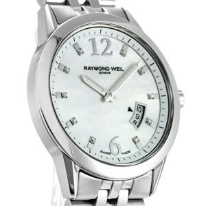 Raymond Well Freelancer 5670 Womens Quartz Watch MOP Dial Stainless Steel 29mm