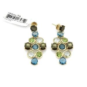 Ippolita Gelato Multicolor Gems Chandelier 18k Gold Earrings