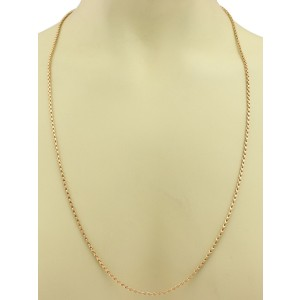 "Bucherer 18k Pink Gold Fancy 2mm Loop Link Chain 28"" long"