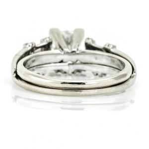 1.01 Carat 14k White Gold GSL Certified Princess Diamond Engagement Ring