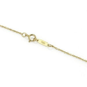 Tiffany & Co. Diamond Sapphire 18k Yellow Gold Pear Shaped Pendant Necklace