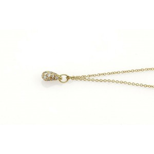 Tiffany & Co. Peretti Diamond 18k Yellow Gold Teardrop Pendant