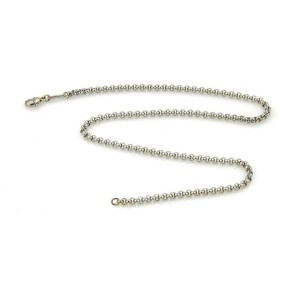 Chopard 18k White Gold Round Link Chain Necklace