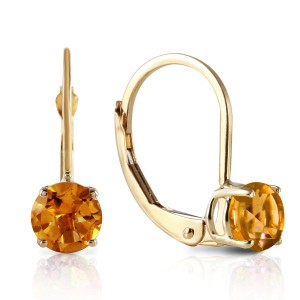 1.2 CTW 14K Solid Gold Iris Citrine Earrings