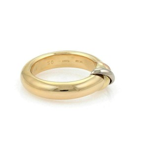 Cartier Top Trinity 18k Tri Gold Dome Ring Size 50 US 5.5 w/Certificate