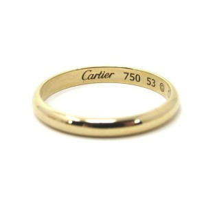 Cartier Dome 18k Yellow Gold Wedding Band Ring Size 53 US 6.5 w/Cert