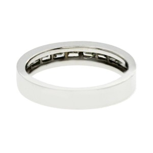 0.52 CT Baguette Diamonds 18K White Gold Wedding Band Ring Size 6-7