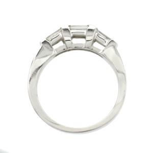 0.38 CT Princess Cut Diamonds 18K White Gold Wedding Band Ring Size 6-8
