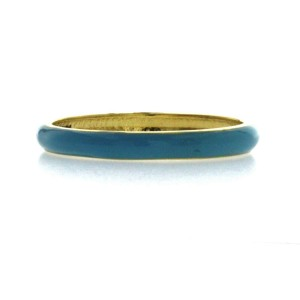 Fancy Multi Color Enamel 14K Yellow Gold 3 mm Band Ring Size 4-8 » NP15