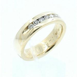 14k Yellow gold .50ct Diamond Men's Ring Band Size 10