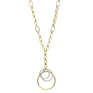 .75 Carat 18k Yellow Gold Diamond Pendant Necklace